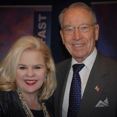 Michele Combs with Senator Chuck Grassley