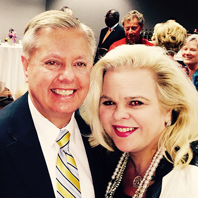 Michele Combs with Senator Lindsey Graham