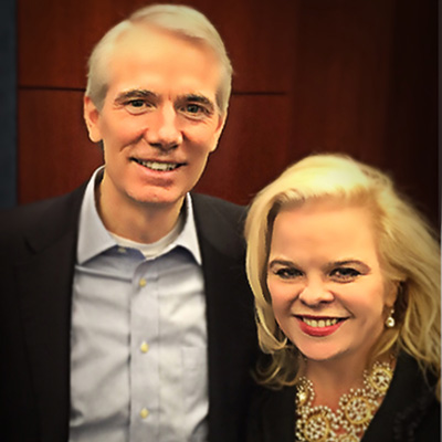 Michele Combs with Senator Rob Portman