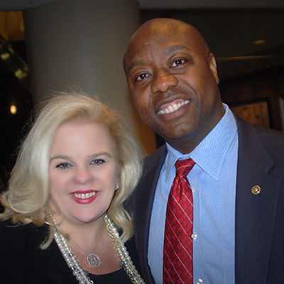 Michele Combs with Senator Tim Scott